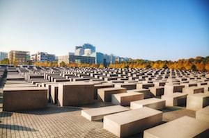 Bild på Förintelsemonumentet i Berlin