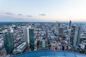 Bild på utsikten från Main Tower i Frankfurt