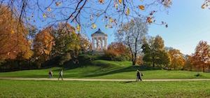 Bild på Engelska trädgården i München